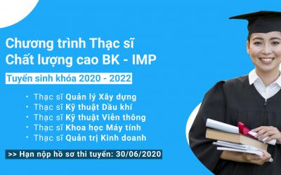 Thông báo tuyển sinh chương trình Thạc sĩ Chất lượng cao (BK-IMP) tại ĐH Bách Khoa