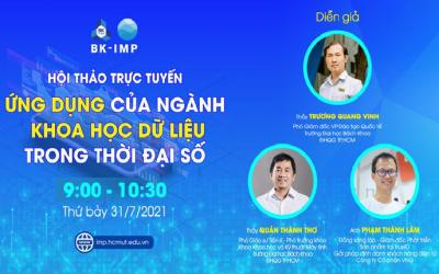 Hội thảo trực tuyến – Ứng dụng của ngành Khoa học Dữ liệu trong thời đại số
